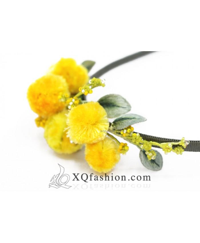Băng Đô Hoa Mimosa