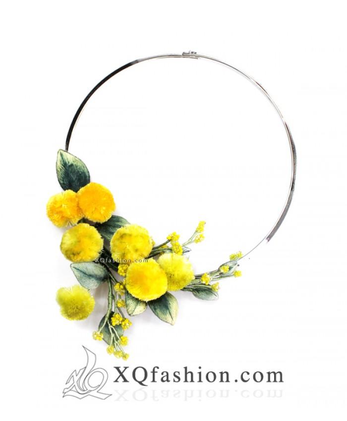Kiềng Thêu Hoa Mimosa