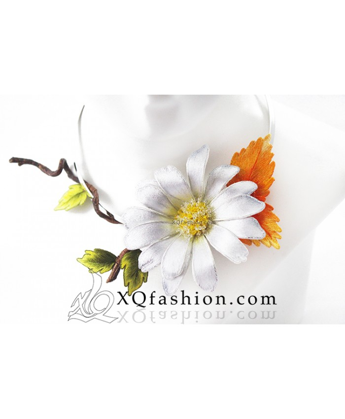Kiềng Thêu Hoa Marguerite
