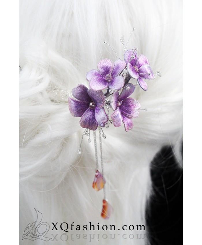 Trâm cài hoa tím