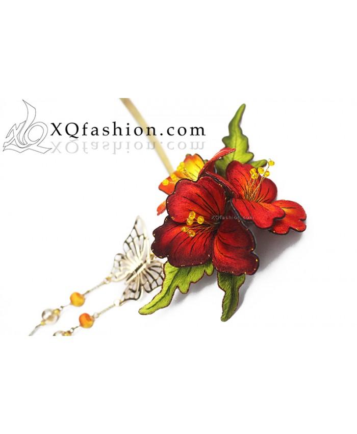 Trâm cài rực rỡ sắc hoa