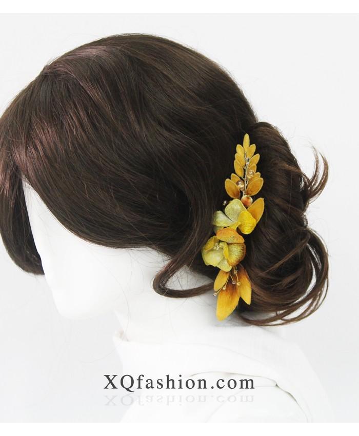 Kẹp hoa vàng mùa thu
