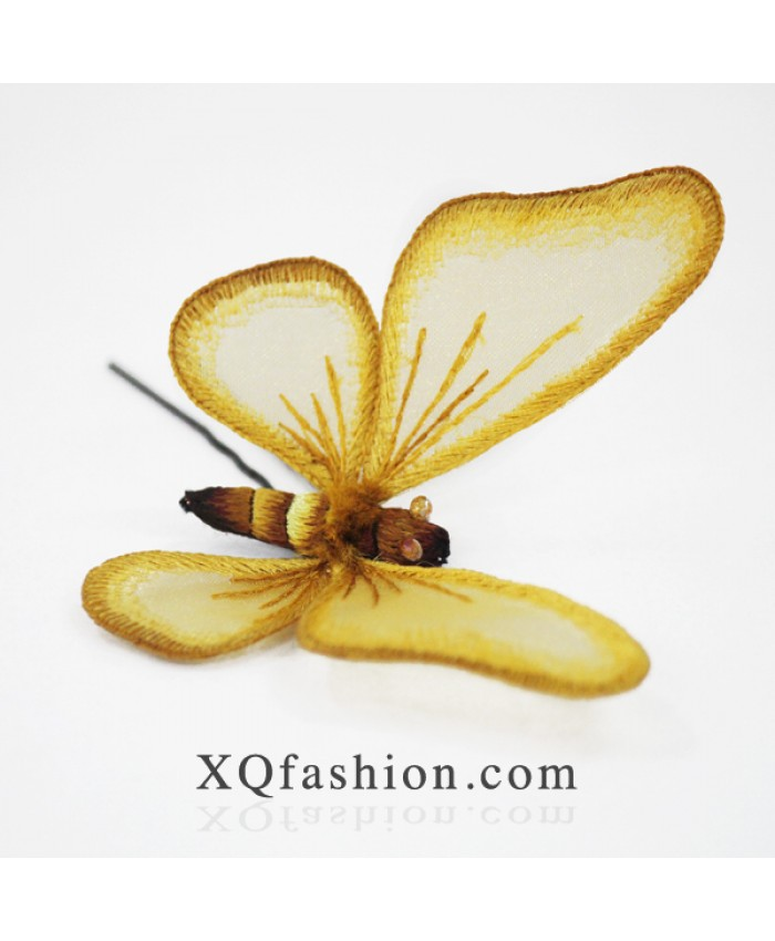Cài tóc bướm vàng